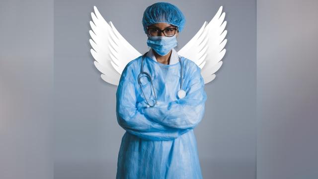 Ilustrasi perawat berhati malaikat