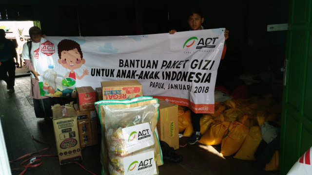 ACT Salurkan bantuan di kabupaten Asmat.