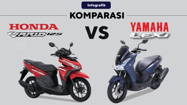 Komparasi Honda Vario vs Yamaha Lexi