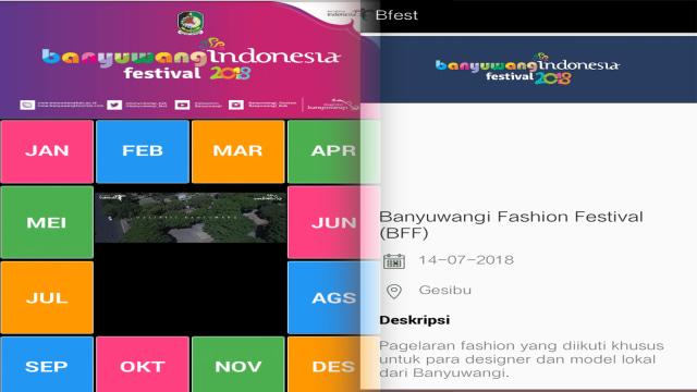 Aplikasi Banyuwangi Festival