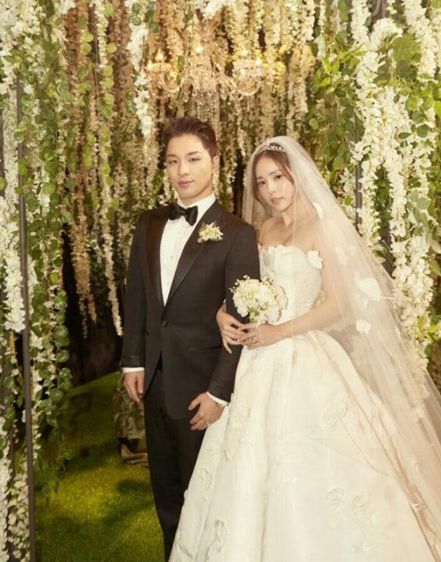 Taeyang dan Min Hyo Rin Rilis 2 Foto Resmi dari Pernikahan Mereka (325900)