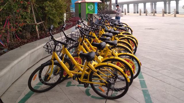 Bike sharing di salahsatu lokasi wisata