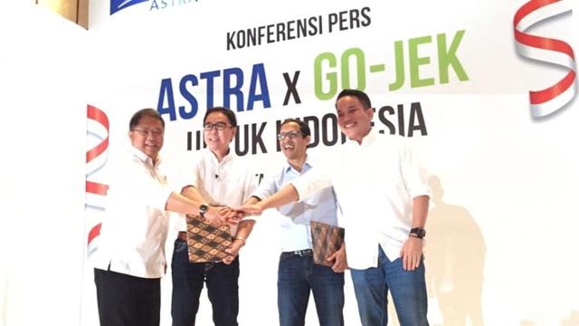 Kerja Sama Astra dan Go-Jek