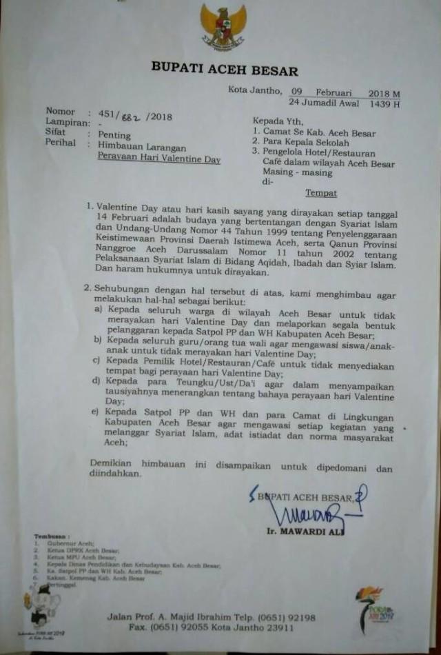 Mpu Aceh Tegaskan Valentine Bukan Untuk Umat Muslim