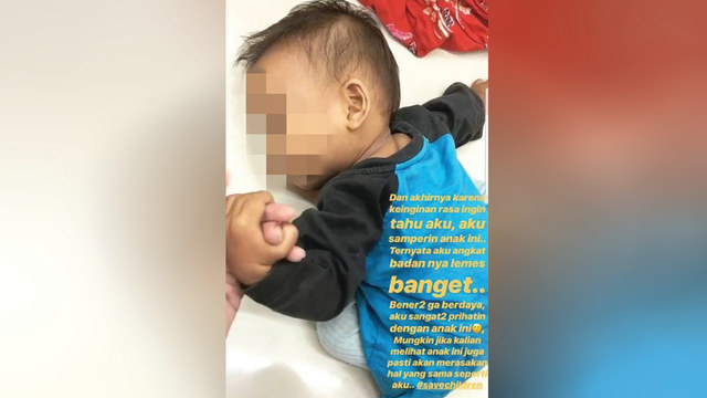 Bayi tergeletak di lantai Alfamart