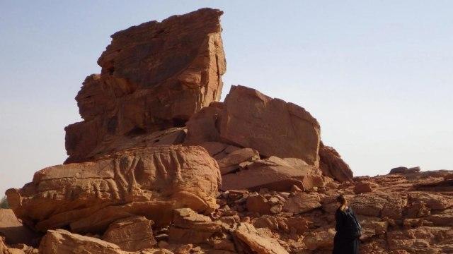 Batuan dengan Ukiran Unta
