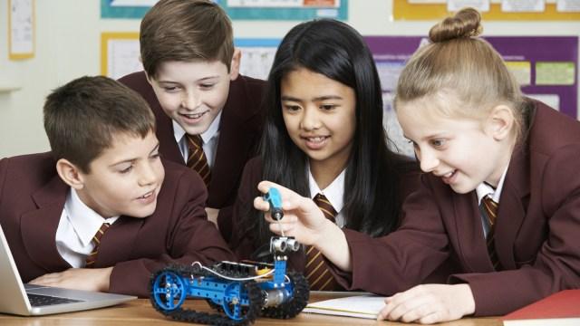 Siswa sekolah di Inggris