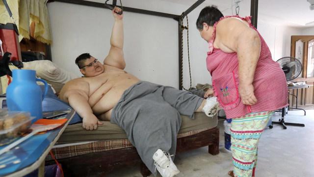 Pria obesitas dari Meksiko.