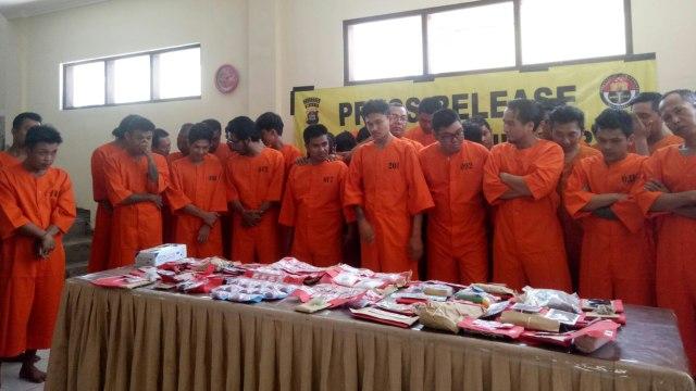Polresta Denpasar Tangkap 45 Tersangka Narkoba
