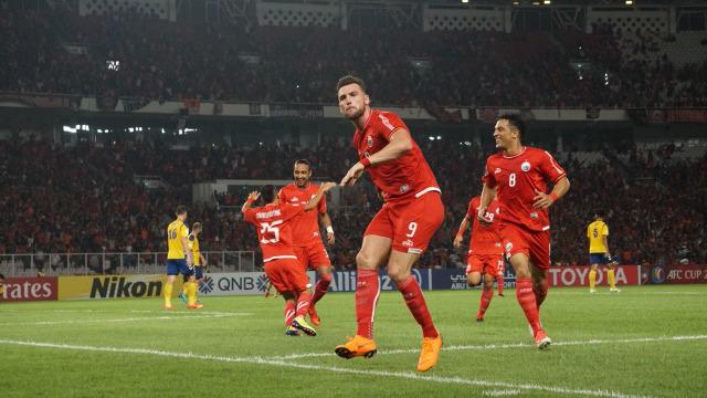 Selebrasi goal Marko Simic melawan Tampines