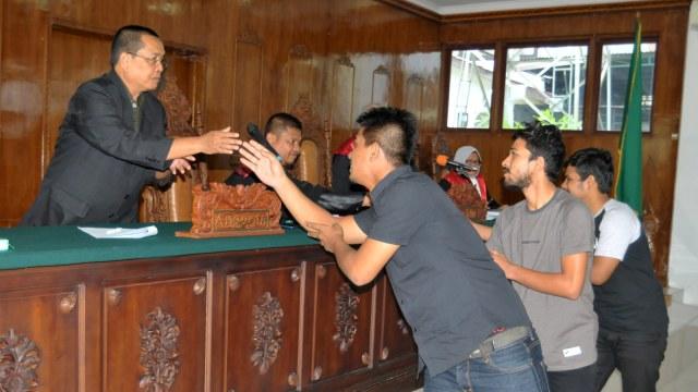 Sidang vonis pesepak bola Aceh