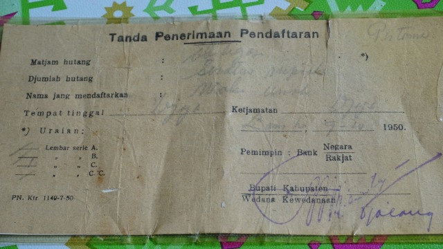 Obligasi pemerintah Indonesia ke Nyak Sandang