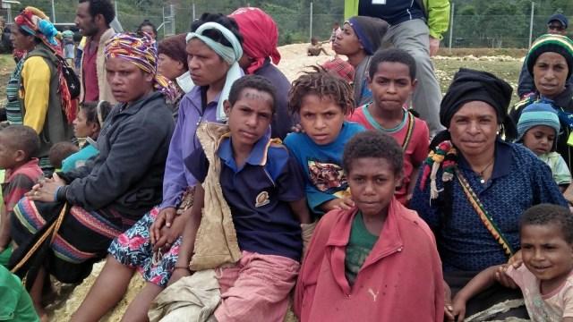 Suasana usai gempa di Papua Nugini.
