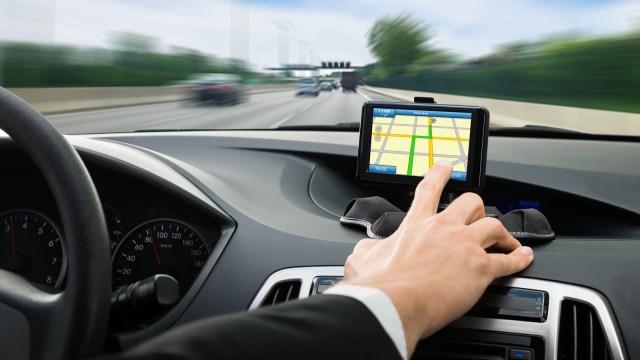 Ilustrasi penggunaan GPS
