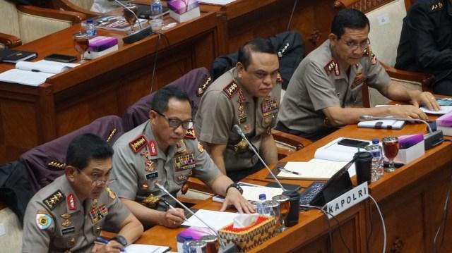 Raker komisi III DPR dan Kapolri
