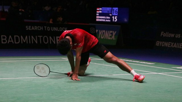 Anthony Ginting di All England 2018