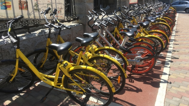 Bike sharing diparkir rapi