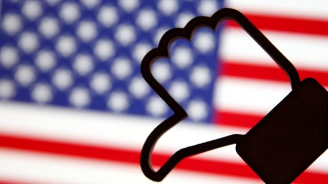 Ilustrasi Facebook dan Amerika Serikat