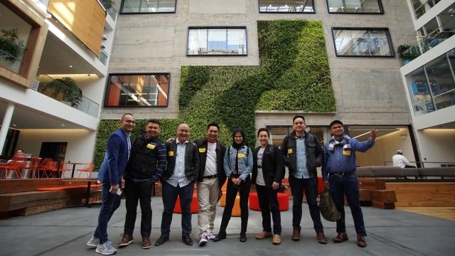 Kunjungan juara The NextDev ke kantor Airbnb