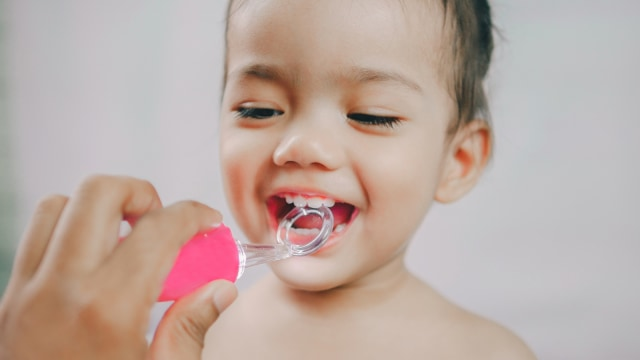 Ilustrasi gigi anak.