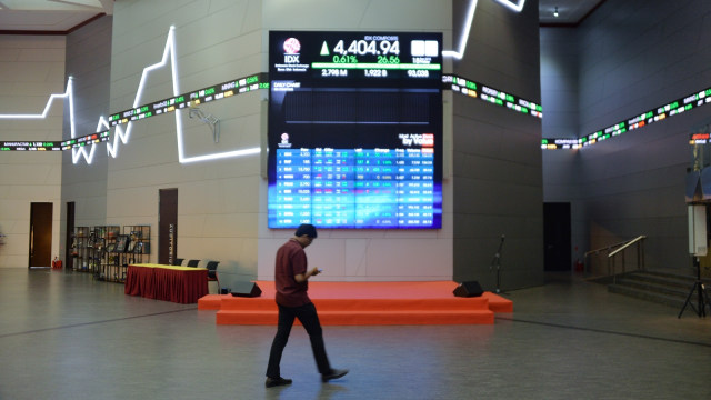 Ilustrasi index saham di Bursa Efek Jakarta.