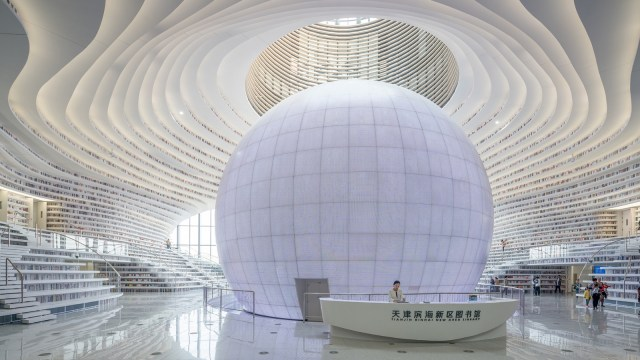 The Tianjin Binhai New Area Library