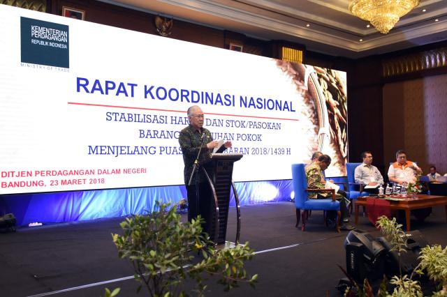 Jelang Puasa dan Lebaran 2018,  Kemendag Gelar Rakornas Bapok di Bandung (17539)