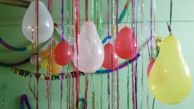 Ilustrasi Balon sebagai Hiasan