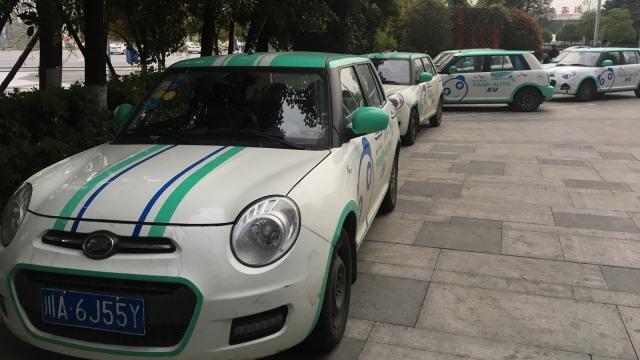 Barisan armada car-sharing.