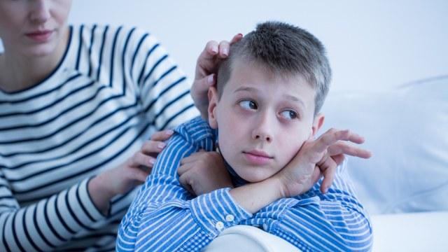 Ilustrasi autisme pada anak.