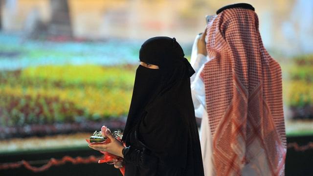 Ilustrasi pasangan Arab Saudi
