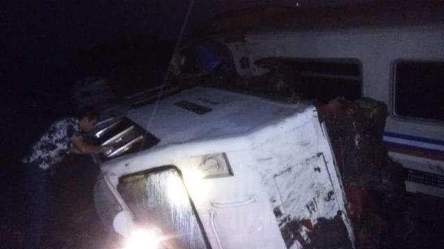 Kecelakaan Kereta Api di Ngawi