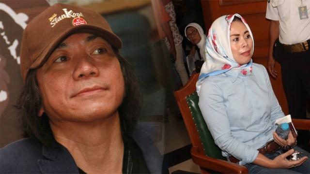 Abdee Negara 'Slank' dan Istrinya