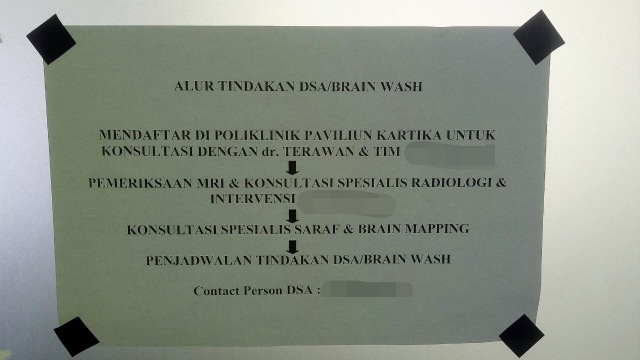 Alur tindakan DSA Brain Wash