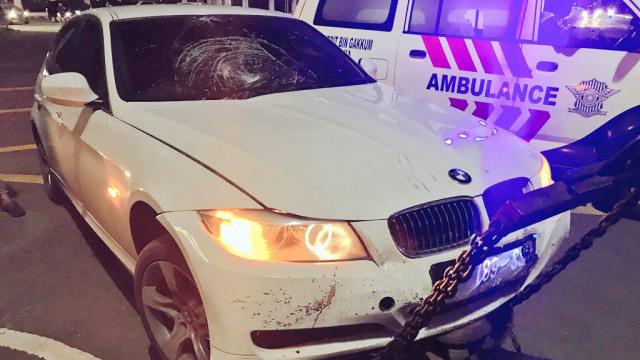 Kecelakaan BMW dan motor di Harmoni, Jakarta Pusat