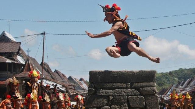 Mengenal Fahombo, Tradisi Lompat Batu di Nias yang Lahir dari Perang (33227)