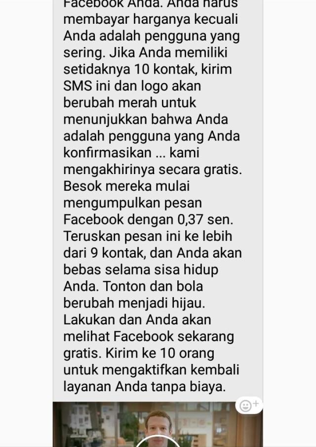 Pesan berantai facebook