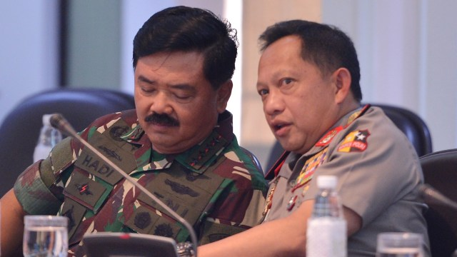 Hadi Tjahjanto dan Tito Karnavian