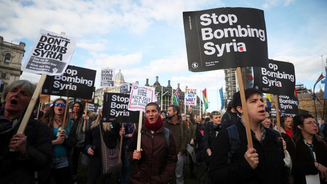 Aksi setop serangan udara di Suriah