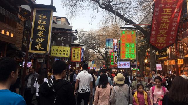 Muslim Street di Xi'an, China.