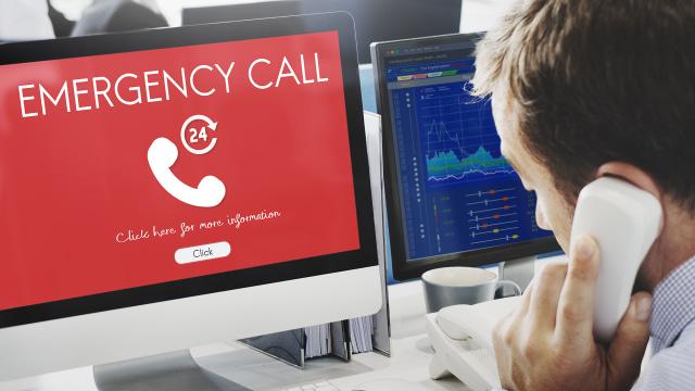 Ilustrasi panggilan darurat.