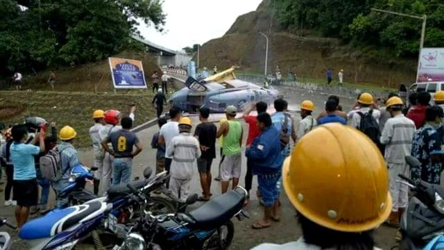 Kecelakaan heli di Sulawesi.