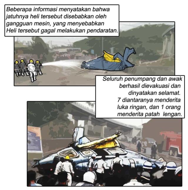 Komik: Helikopter PK-WSX Jatuh dan Menewaskan Seorang Pekerja di Morowali, Sulawesi Tengah (27303)