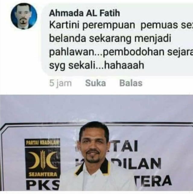 Foto Kader PKS Dicatut untuk Menjelek-jelekkan Kartini di Medsos (274613)