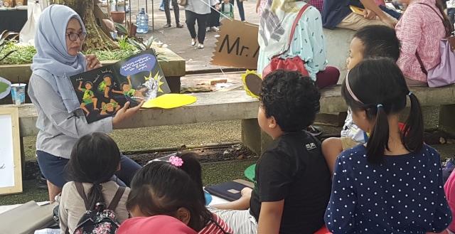 Pojok Baca di Festival Hari Buku Anak
