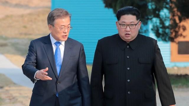 Pertemuan Moon Jae-in dan Kim Jong-un