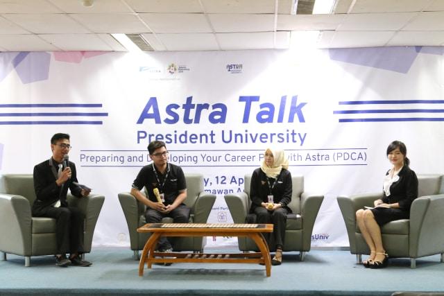 """Seminar Astra Talk 2018 Hadir di President University Bertemakan """"Future Carrer""""   (161020)"""