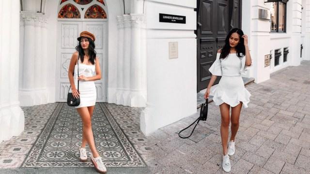 (1) Inspirasi Gaya Dress & Sneakers