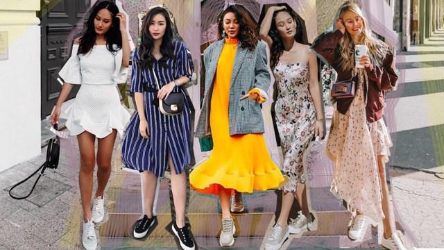 Inspirasi Gaya Dress & Sneakers (COVER)