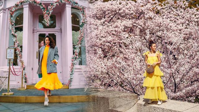 (6) Inspirasi Gaya Dress & Sneakers